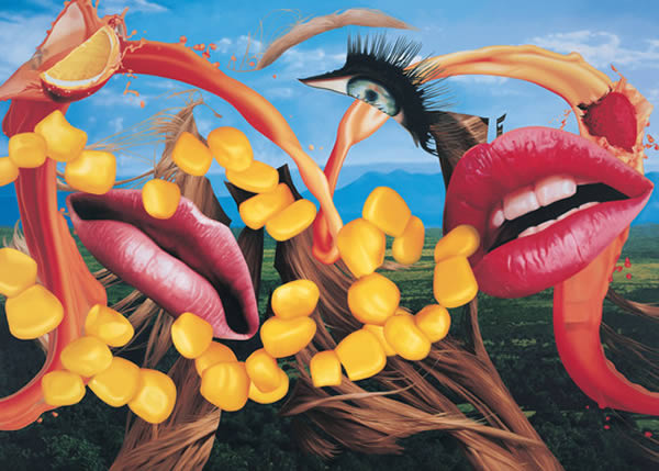 Jeff Koons Lips 2000 Easyfun Ethereal l auf Leinwand 2997 x 4318 cm Privatsammlung Courtesy Gagosian Gallery  Jeff Koons JEFF KOONS   Double Trouble