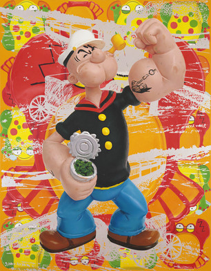 Jeff Koons Popeye Train 2008 l auf Leinwand 2743 x 2134 cm Privatsammlung Courtesy Gagosian Gallery  Jeff Koons Foto Rob McKeever JEFF KOONS   Double Trouble